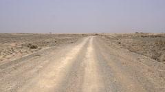 Slow Traffic on Desert Road HD Stock Footage
