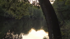 Peaceful River Dee On A Warm Summers Evening Stock Footage