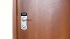 Door hanger do not disturb on handle - stock footage