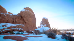 Desert Rocks Push Stock Footage
