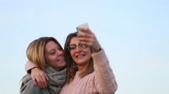 Taking selfie photo Stock Footage