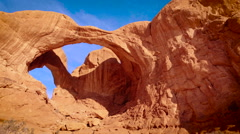 Double Arch Wide Pan Left Stock Footage