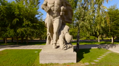 Monument Stay in Mamayev Kurgan memorial complex in Volgograd,  Stalingrad Stock Footage