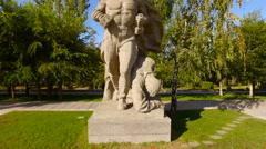 Monument Stay in Mamayev Kurgan memorial complex in Volgograd,  Stalingrad Stock Footage