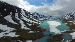 Mountain lake in norway Stock Footage