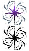 Star tattoo Stock Illustration