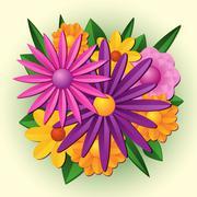 Floral bouquet - stock illustration