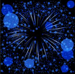 Defocused fireworks blue Stock Illustration