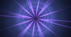 4K  abstract purple geometric motion background seamless looping fractal Stock Footage