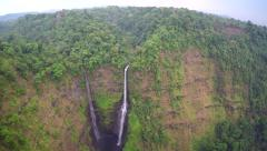 Aerial Footage of Waterfalls in Bolaven Plateau, Laos Stock Footage