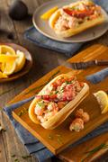 Homemade New England Lobster Roll Stock Photos