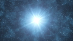 Animation blue background with rays in space. Stock Footage