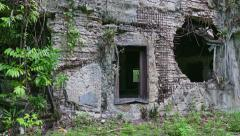 World War Remains Old Building Battlefield In Jungle Palau Peleliu - stock footage