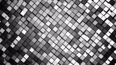 Gray metallic square blocks background animation throwing glares. Seamless loop. Stock Footage