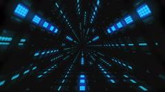 VJ Loop Blue Triangular Tunnel Stock Footage