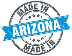 Made in Arizona blue round vintage stamp Stock Illustration