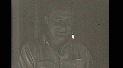 Vintage 16mm film, 1929 Illinois, odd smiling man Stock Footage