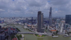 Vietnam Ho Chi Minh City (top view) of the city center  Stock Footage