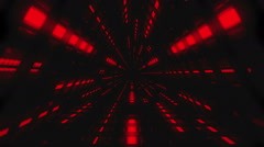 VJ Loop Red Triangular Tunnel - stock footage