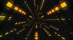 VJ Loop Yellow Triangular Tunnel Stock Footage