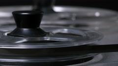REEL TO REEL TAPE MACHINE.   Stock Footage