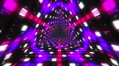 VJ Loop Triangular Tunnel 1 Stock Footage