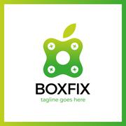 Eco Box Fix Logo Stock Illustration