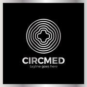 Circle Medical Line Logo Stock Illustration