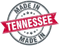 made in Tennessee red round vintage stamp - stock illustration