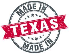 Made in Texas red round vintage stamp Stock Illustration