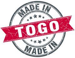 Made in Togo red round vintage stamp Stock Illustration