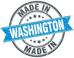 Made in Washington blue round vintage stamp Stock Illustration