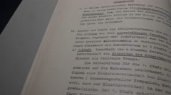 NAZI WAR DOCUMENTS / CLEARED ARTWORK Stock Footage