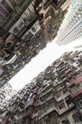 Crowded Hong Kong Stock Photos