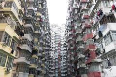 Crowded Hong Kong - stock photo