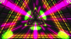 VJ Loop Triangular Tunnel 4 Stock Footage