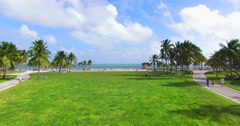 Aerial 4K video of Grandon Park, Miami. Stock Footage