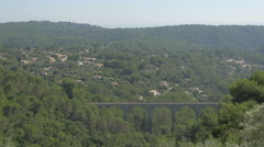The bridge on Route de Provence seen from Tourrettes-sur-Loup Stock Footage