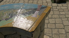 "The ""table d'orientation"" of Tourrettes-sur-Loup Stock Footage"