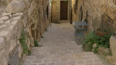 Medieval street in Tourrettes-sur-Loup Stock Footage