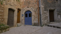 La Porte Bleue on Grand Rue in Tourrettes-sur-Loup Stock Footage