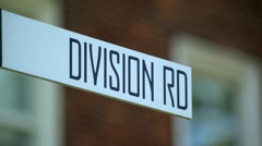 Division Road Sign Is Where Road Divide - stock footage