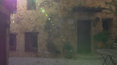 Sunny day on a street in the village of Tourrettes-sur-Loup Stock Footage