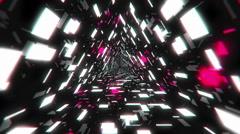 VJ Loop Pink Energy Tunnel - stock footage