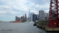 Across The River From Governors Island Lies Manhattan Stock Footage