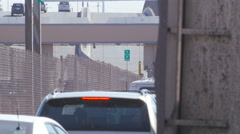 Border Traffic Near the Bridge of Americas Stock Footage