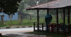 Brazilian Small City. Poconé, Mato Grosso, Brazil. Rain, Rainy day Stock Footage