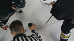 Faceoff in Hockey Stock Footage