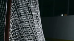 Puck Flying into Net - stock footage