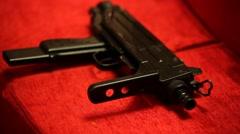 Guns close up Stock Footage